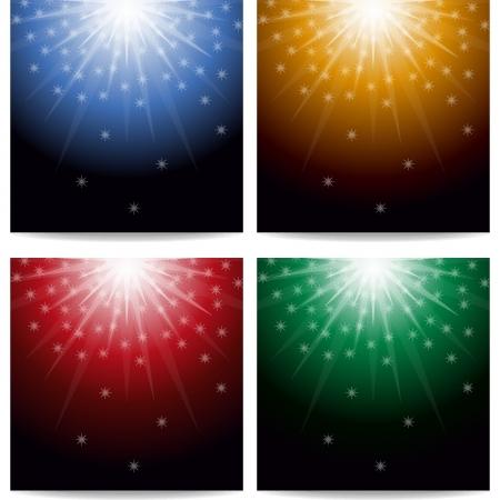 Luces y estrellas de fondo