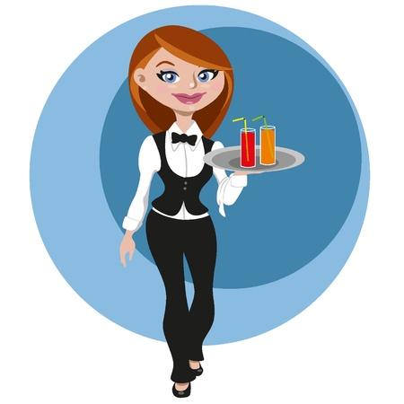 Female waitress