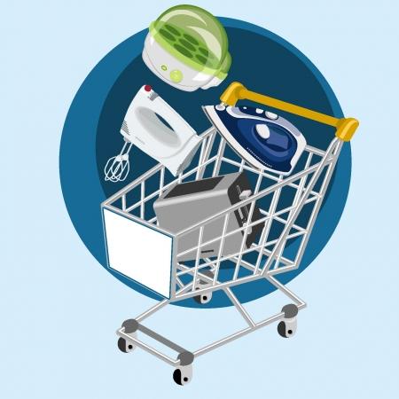 Comprar electrodomésticos pequeños Vectores
