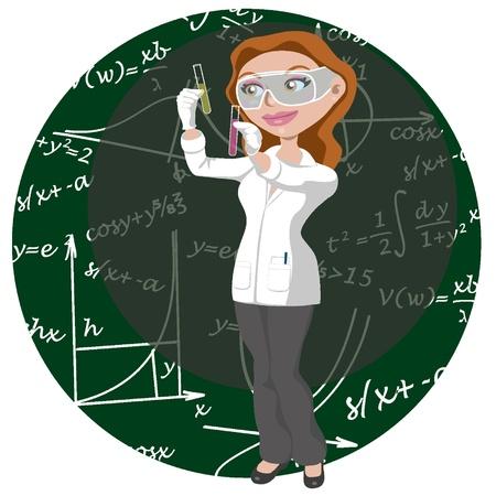 Las mujeres y la ciencia Foto de archivo - 18134208