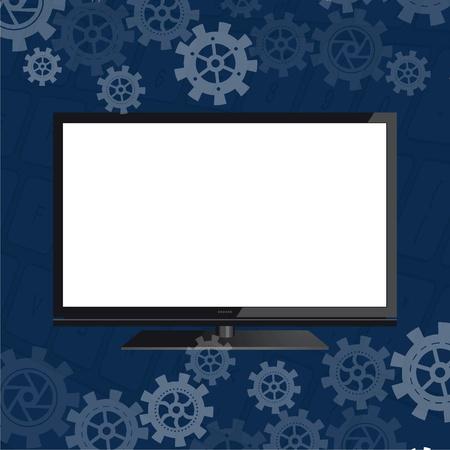 Flat screen Stock Vector - 18134214