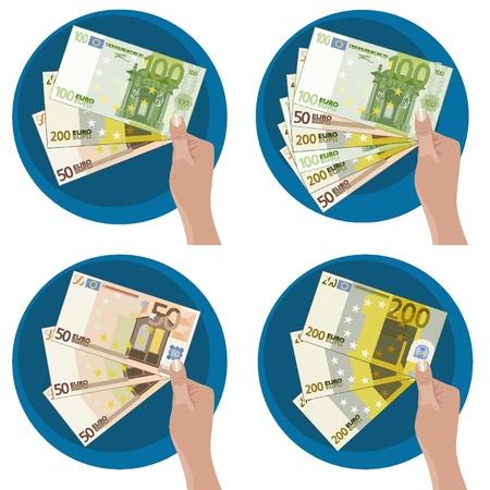Manos que muestran el dinero