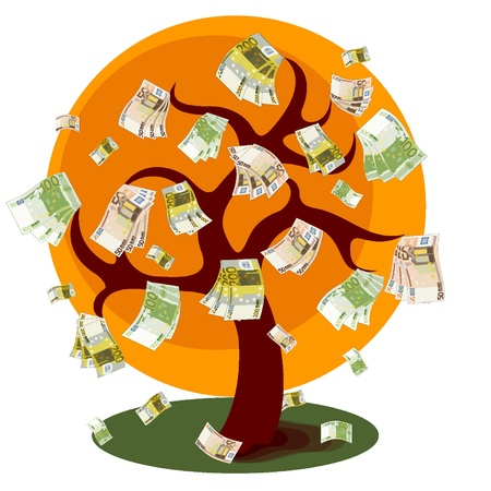 Money tree Ilustração