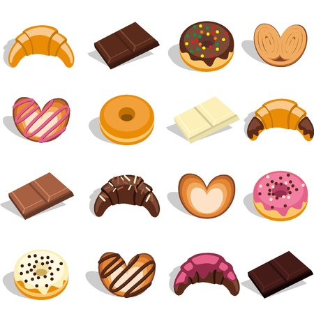 Sweets and pastries Stock Vector - 18134268