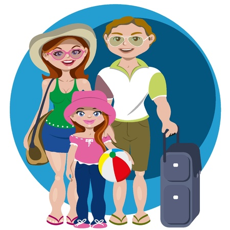 Family holidays Vector
