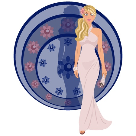 Elegant woman dressed for a party Stock Vector - 18134281