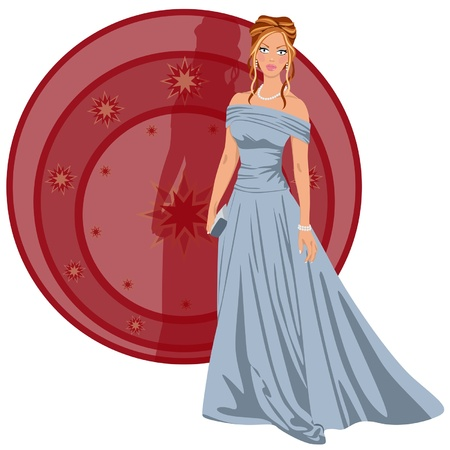 Mujer elegante vestido para una fiesta