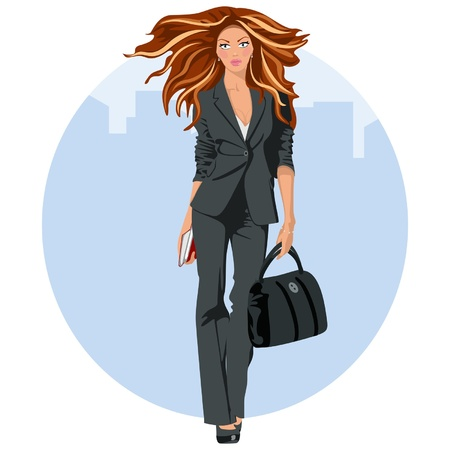 woman legs: Elegant business woman Illustration