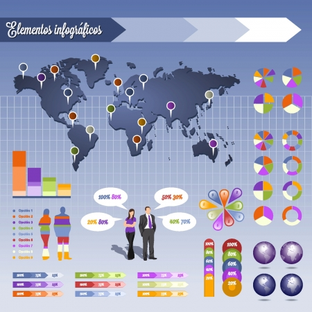 Info graphics elements Vector