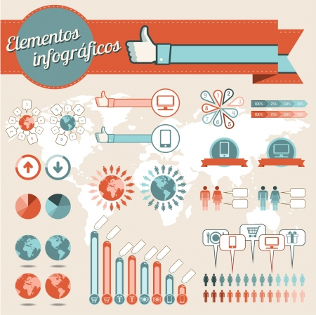 Info graphics elements