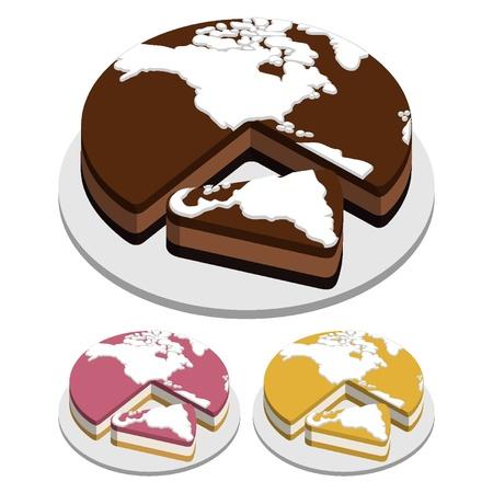 tarta: Mapa świata Tart