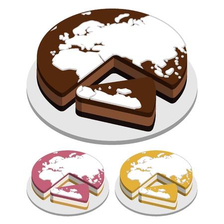 World map Tart Illustration