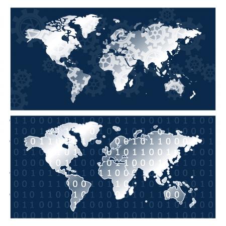 Mapas del Mundo Foto de archivo - 18134348