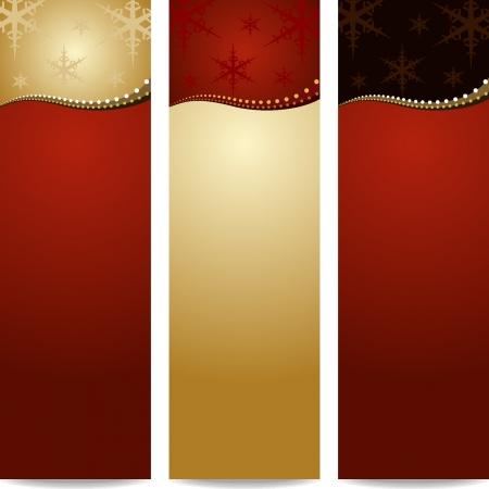 Elegante fondo de Navidad tres modelos Vectores