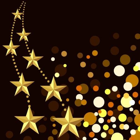 Antecedentes Las luces de Navidad y las estrellas Vectores
