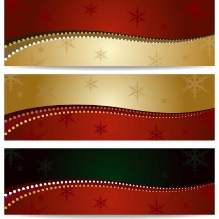Elegante fondo de Navidad cuatro modelos Vectores