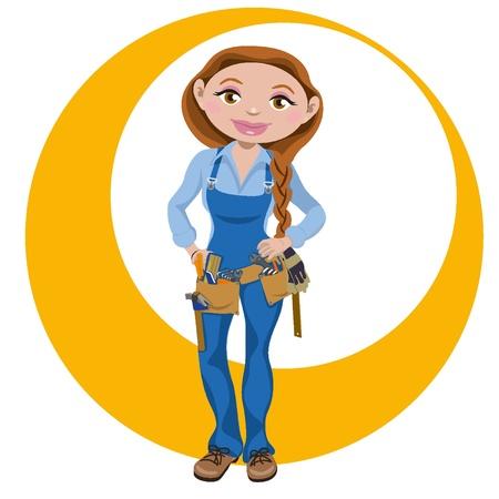 Manual working woman Stock Vector - 18134228