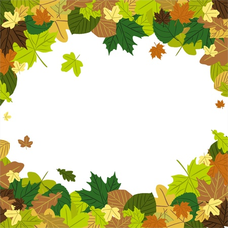 Autumn Leaves in the wind Stock Vector - 18134320
