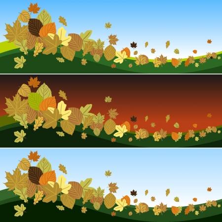 Hojas de otoño en el viento