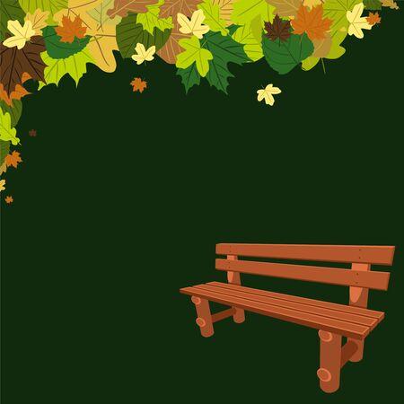 Banco de madera bajo un árbol Foto de archivo - 18134328