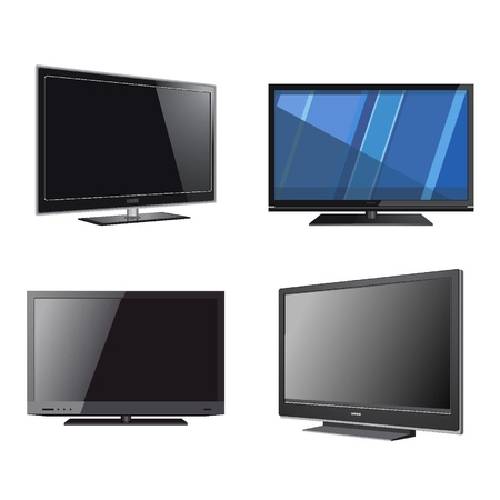 Flat screen Vector