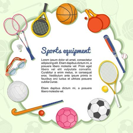 Deportivos que forman un marco Vectores