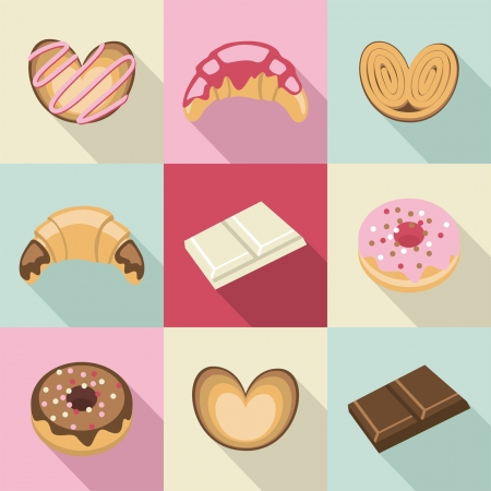 Vintage sweets and pastries