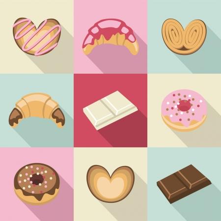 Dulces y pasteles de la vendimia
