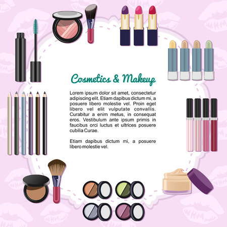 Cosmetics and Makeup Illustration