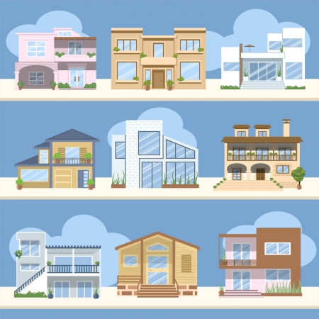 bungalow: Houses with beautiful colors and designs