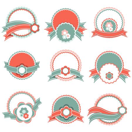 Conjunto de etiquetas de época Vectores
