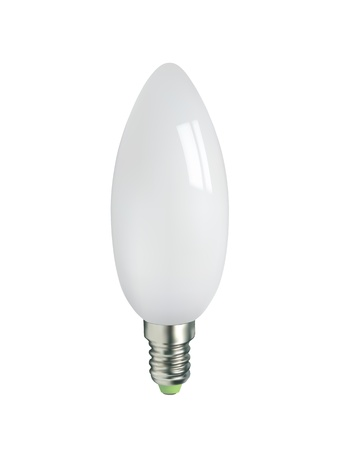 opaque: candle type light bulb
