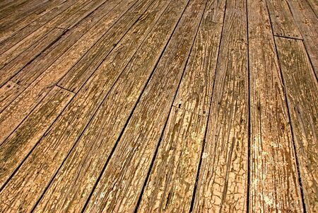Ground level view of weathered outdoor wood floor Stock Photo - 7556117