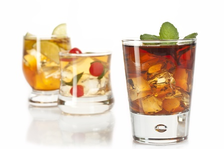 three refreshing alcoholic and non-alcoholic cocktails