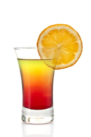 nonalcoholic: one refreshing alcoholic and non-alcoholic cocktail Stock Photo