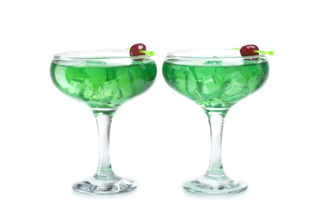 non alcoholic: two refreshing alcoholic and non-alcoholic cocktails