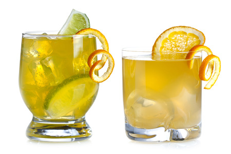 Two cocktails on a white background photo