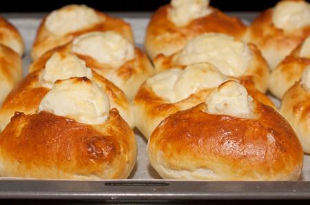 Freshly baked homemeade stuffed pies