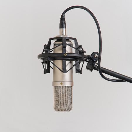 condenser: Professional condenser microphone in a studio environment