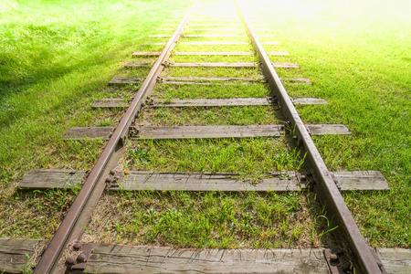Railway track tending far away to infinity.
