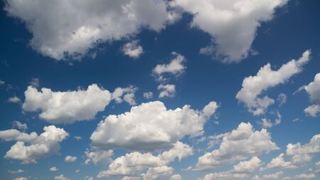 Blue sky with white clouds. Natural background image