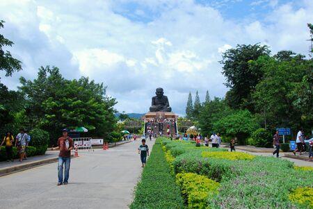 bright: Wat huay mongkol temple, hua hin, Thailand.
