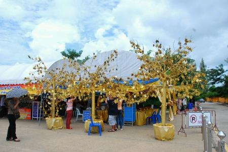 canvas: Wat huay mongkol temple , hua hin , Thailand. Stock Photo
