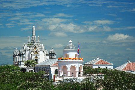 Temple on hill in Phetchaburi photo