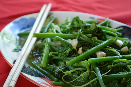 chayote: Stir fry chayote with oyster sauce