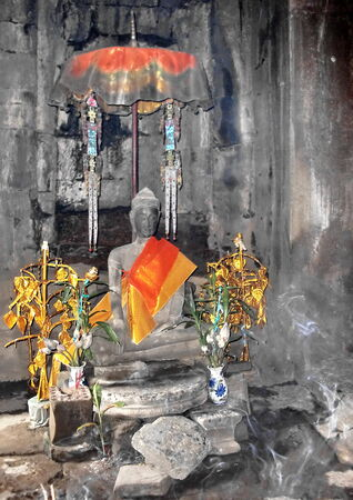 Magical buddha statue photo