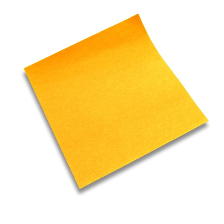 yellow paper notes photo