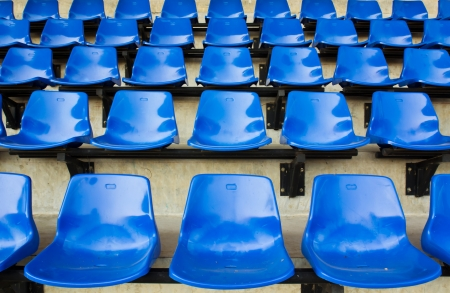 Blue seat rows in stedium photo