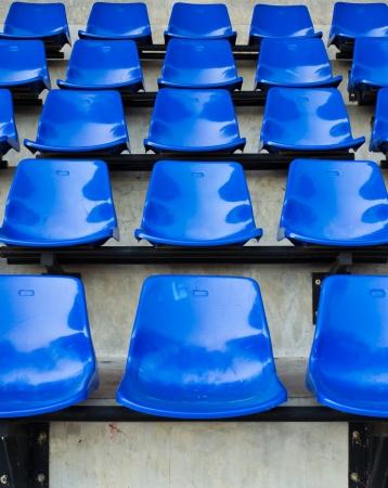 Blue seat rows in stedium photo