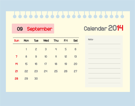 september calendar: Calendar to schedule monthly. September.